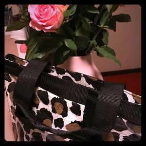 Handbags - Leopard Print insulated lunch bag tote